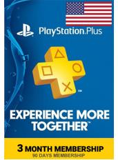 PlayStation Plus 3 Meses (USA - Estados Unidos)