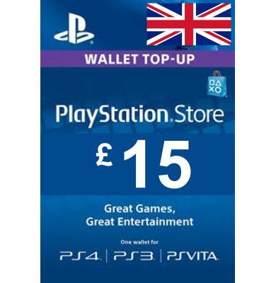 £15 (GBP) - PlayStation Gift Card | UK - United Kingdom