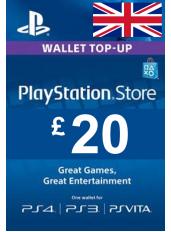 PlayStation Gift Card - £20 (GBP)   UK - Regatul Unit