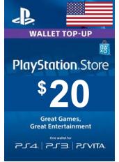 PlayStation Gift Card - $20 (USD)   Statele Unite ale Americii - SUA
