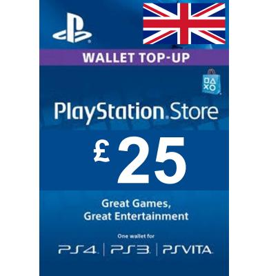 £25 (GBP) - PlayStation Gift Card   UK - United Kingdom