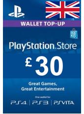 PlayStation Gift Card - £30 (GBP)   UK - Regatul Unit