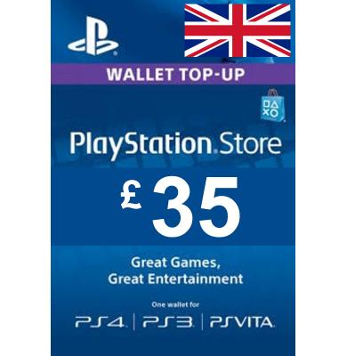 £35 (GBP) - PlayStation Gift Card   UK - United Kingdom