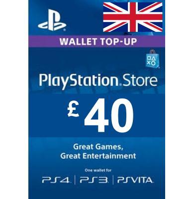 £40 (GBP) - PlayStation Gift Card | UK - United Kingdom