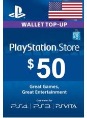 Carta Regalo PlayStation - $50  (USD) | Stati Uniti - USA