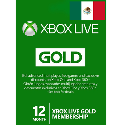 Xbox Live Gold 12 Months (Mexico)