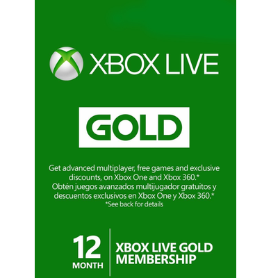 Xbox Live Gold 12 Months (GLOBAL)