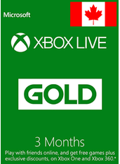 Xbox Live Gold 3 Months (Canada)