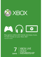 Xbox Live Gold 7 Tage Testmitgliedschaften (GLOBAL)