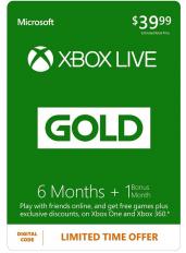Xbox Live Gold 7 Monate (GLOBAL)